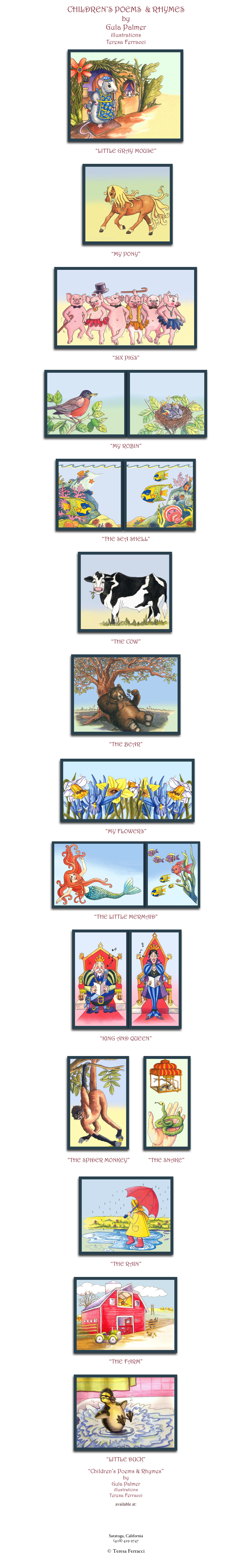 CHILDREN'S POEMS  & RHYMES